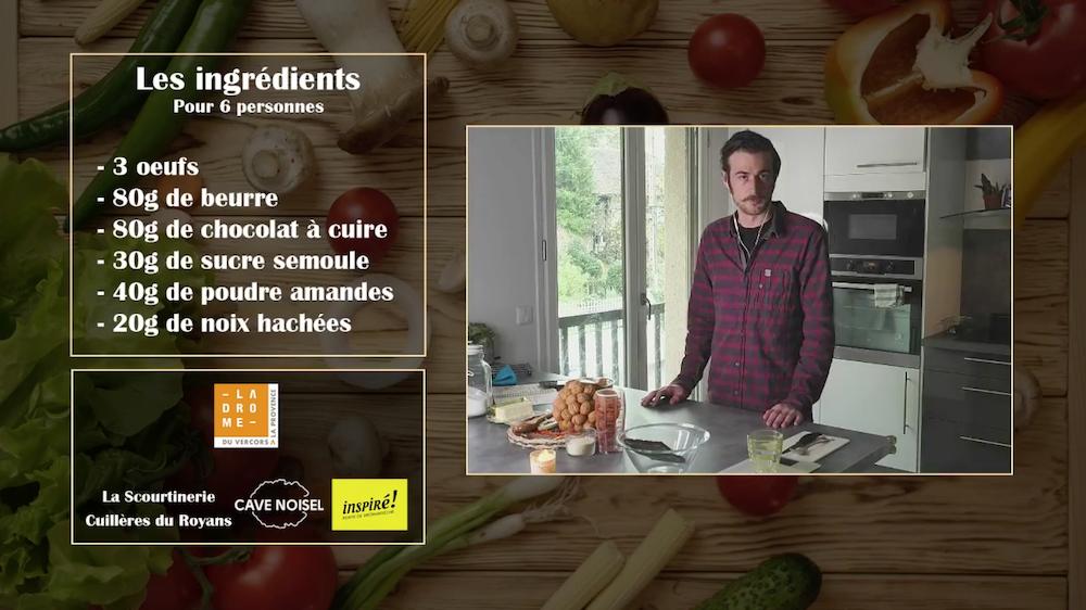 Recette en live sur Facebook de la Drôme avec un OT partenaire