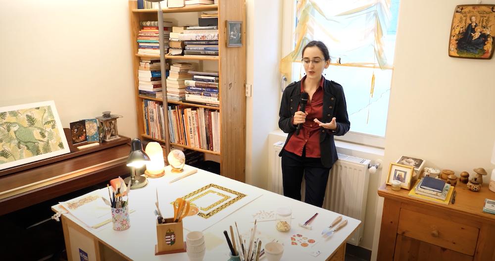 Interview à Valence : Atelier d'enluminure Marie Nuel