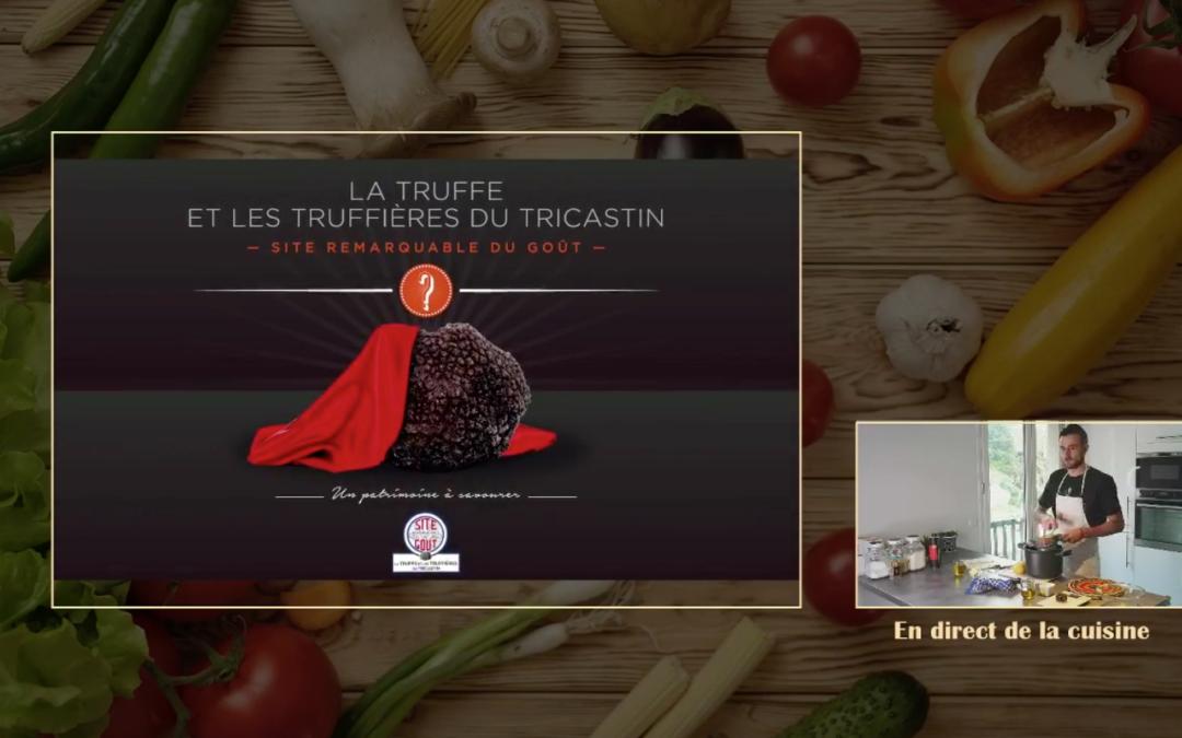Recette vidéo live sur les réseaux-sociaux de la Drôme