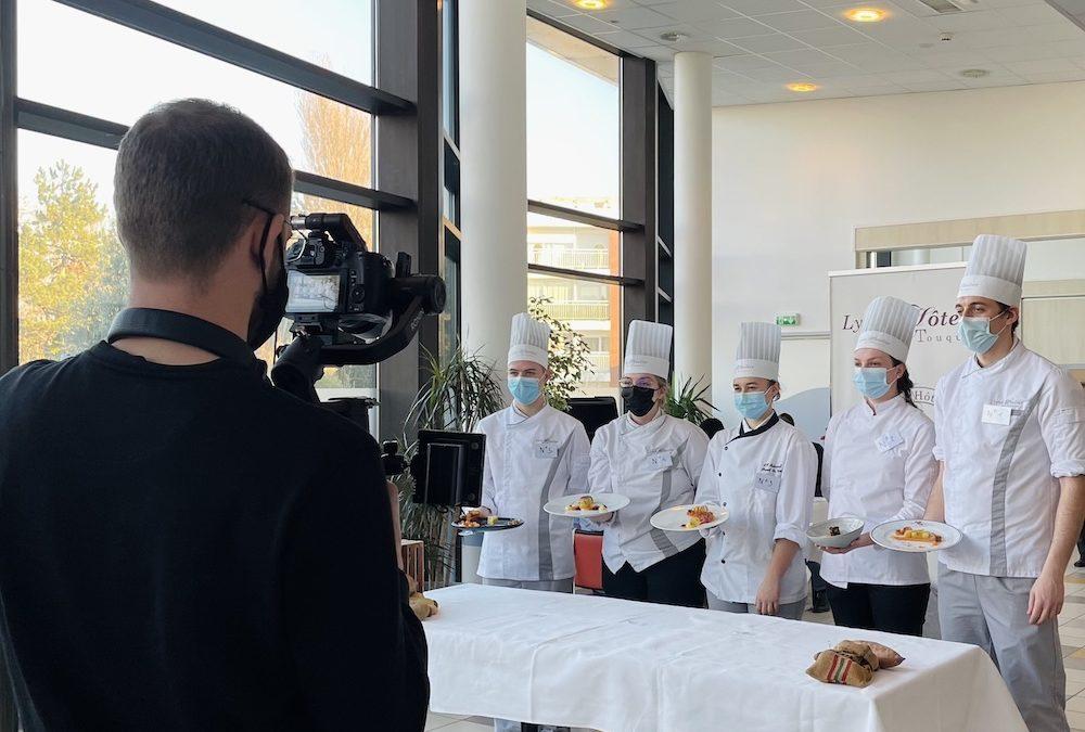 Tournage du concours de cuisine au lycée Hôtelier du Touquet-Paris-Plage