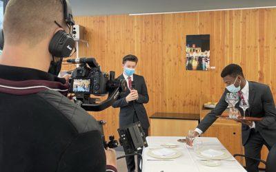 Vidéastes professionnels : Tournage vidéo au lycée Hôtelier International de Lille