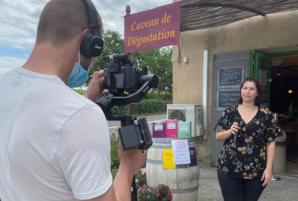 Tournage vidéo : Interview au Domaine des Arches en Drôme