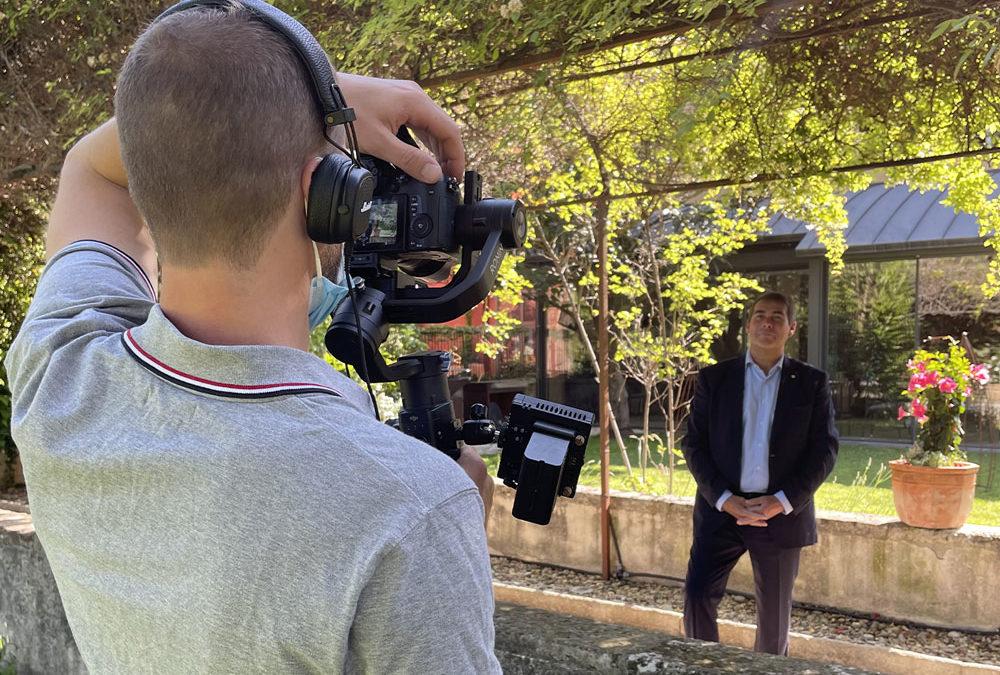 Tournage vidéo : Interview et drone à la Villa Augusta en Drôme